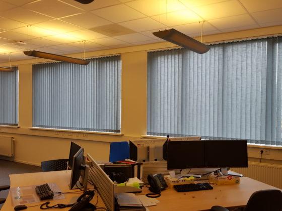 Lamellen op kantoor